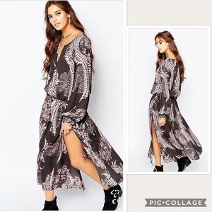 NWOT Free People Out Of The Woods Maxi Dress